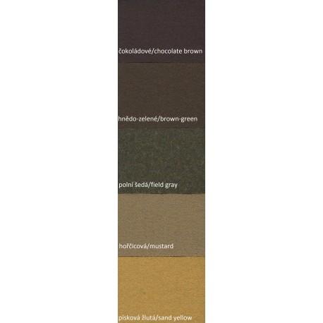 Sukno 660g zemité odstíny